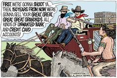 Wolverton - Cagle Cartoons - Wells Fargo Native American Exploitation - English - Wells Fargo Bank, Native Americans, Indians