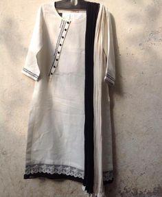 Simple Pakistani Dresses, Unique Dresses, Printed Kurti Designs, Kurta Neck Design, Kurti Patterns, Kurta Designs Women, Dress Neck Designs, Fashion For Petite Women, Indian Designer Wear