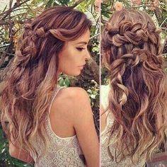 Hele mooie lange kapsels voor dames met een donkere haarkleur!