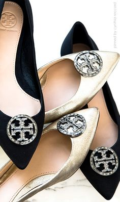 Tory Burch | Endless Dancing evening flats. Celebrate cocktail parties in sophisticated style, without kicking off your shoes ever again | cynthia reccord