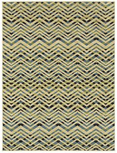 """area rug by Shaw Floors in the HGTV collection style """"Zara"""" color Blue..  great chevron pattern"""