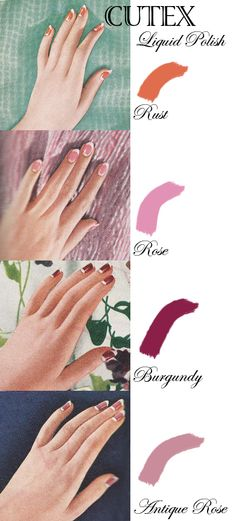 Manicure On A Vintage Cutex Nail Polish Ad