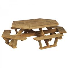 pattern for hexagon picnic table   Home » Amish Pine Hexagon Picnic Table with Benches