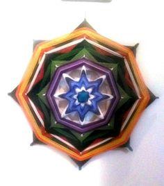 Mandala em lã