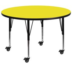 Flash Furniture 22.37-30.5-Inch Height-adjustable Laminate Mobile Round Activity Table