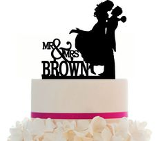 Custom Wedding Cake Topper Couple Silhouette Your by Mclaserpro