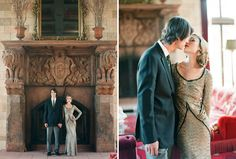 Twenties Inspired Engagement Photos .. id have to do some arm twisting with tyler ha.