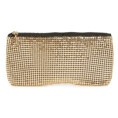 EVOLUTIONEYES Mesh Glasses Case ($24) ❤ liked on Polyvore featuring accessories, eyewear, gold and metallic glasses