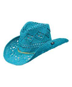 Look what I found on #zulily! Turquoise Ariel Cowboy Hat #zulilyfinds