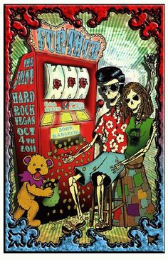 Original concert poster for Furthur at The Joint at The Hard Rock Hotel in Las Vegas in 2011.  11x17 card stock. Artwork by Mark Serlo.
