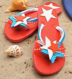 Crafts n' things Weekly - july 4th flip-flops