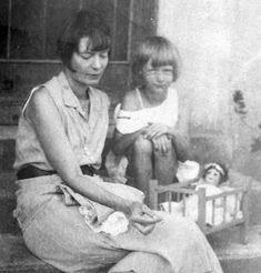 DOROTHY DAY AND DAUGHTER TAMAR (Dorothy Day-began The Catholic Worker)