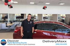 https://flic.kr/p/KKpE3A   Fenton Nissan of Rockwall   David Rodriguez at Fenton Nissan of Rockwall has been using the DeliveryMaxx system for less than three months and has already sold 3 new vehicles as a result. Just last week David secured a sale when a customer spoke to another salesperson, but insisted on working with David because he had read his DeliveryMaxx customer reviews.