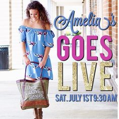 Okay guys set your clocks! Amelia's is going Live tomorrow morning at 9:30 over on our Facebook page! Make sure to tune in for some adorable summer outfits! #shopamelias #AmeliasGoesLive