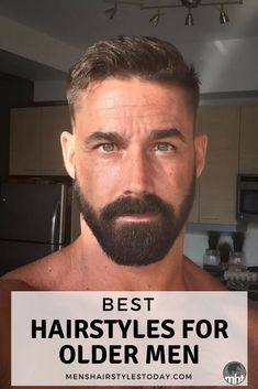 Best Hairstyles For Older Men Mens Hairstyles - Looking For The Best Hairstyles For Older Men But Dont Want The Same Boring Old Man Haircut Every Other Dad Has Older Men Looking For Cool Hairstyles May Feel Limited By Their Options Fortuna Best Hairstyles For Older Men, Haircuts For Men, Hairy Men, Bearded Men, Old Man Haircut, Barba Sexy, Barba Grande, Sexy Beard, Nice Beard