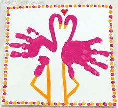 Handprint Pink Flamingo Valentines Day/Summer Craft - Crafty Morning