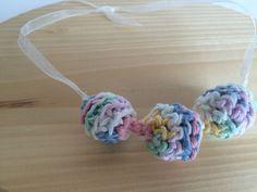 Teething Necklace Multicolor Nursing Breastfeeding Teething Necklace Crochet Wood Beads Jewelry