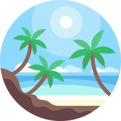 Beach free vector icon designed by Freepik