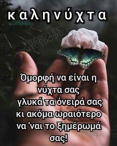 Good Night Prayer, Good Morning Good Night, Good Night Quotes, Beautiful Pink Roses, Greek Quotes, Wish, Prayers, Words, Decoupage