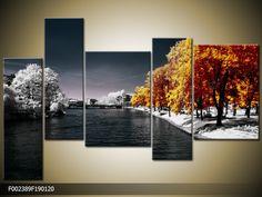 Foto canvas schilderij Natuur | Kleur: Oranje, Wit, Grijs | F002389 - Schilderijen Art