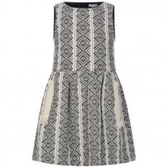 Chloe Girls Black & White Jacquard Dress
