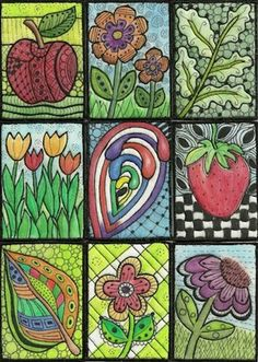 Artist Trading Cards (ATC) using Inktense pencils
