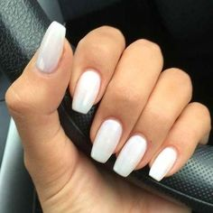 Best Acrylic Nails for 2017 - 54 Trending Acrylic Nail Designs - Best Nail Art - White Acrylic Nails - Acrylic Nail Shapes, Simple Acrylic Nails, Best Acrylic Nails, Acrylic Nail Art, Acrylic Nail Designs, Simple Nails, Nail Art Designs, Perfect Nails, Gorgeous Nails