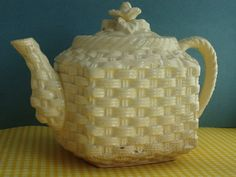 Vintage Teapot with Basket weave Pattern