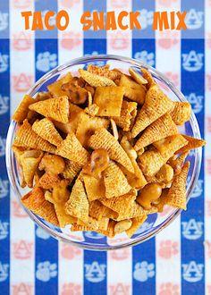 Taco Snack Mix - bugles, pretzels, peanuts, cheezits, taco seasoning - HIGHLY addictive!