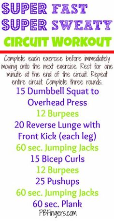 She Rocks Fitness: Super Fast Super Sweaty Printable workout Fitness Tips, Fitness Motivation, Health Fitness, Fitness Fun, Fitness Wear, Exercise Motivation, Motivation Quotes, Fun Workouts, At Home Workouts