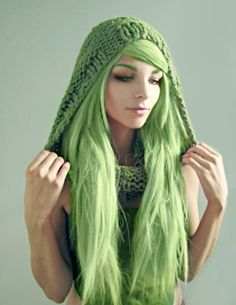 "The original pinner said ""Please no weird colored hair"". Are you kidding me? ""Weird colored hair"" is flippin' awesome."