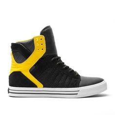 supra men's trainers black and yellow Supra Sneakers, Supra Shoes, High Top Sneakers, Adidas Sneakers, Supra Footwear, Cute Shoes, Me Too Shoes, Men's Shoes, Batman Shoes