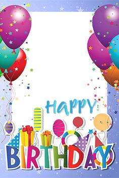 Framed photo of a bright birthday Funny Happy Birthday Song, Happy Birthday Cake Pictures, Happy Birthday Frame, Birthday Photo Frame, Happy Birthday Video, Happy Birthday Celebration, Birthday Tags, Birthday Frames, Happy Birthday Greetings