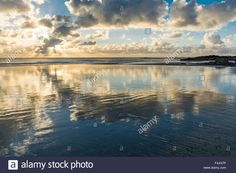 Download this stock image: Sunset at Rhosneigr, Anglesey, North Wales, UK. Taken on 12th October 2015. - F4JG7P from Alamy's library of millions of high resolution stock photos, illustrations and vectors.