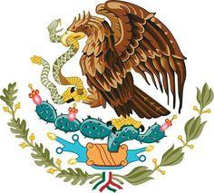 Escudo nacional mexicano - 24 de febrero día de la bandera.