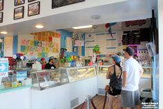 Waiting in line at Justine's Ice Cream Parlour Ocean City MD... #oceancitycool