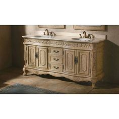 "James Martin Solid Wood 72"" Hana Bathroom Double vanity with a Countertop 206-001-5500"