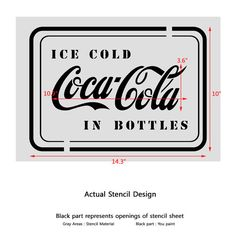 CocaCola in Bottles Stencil Template for por JboutiqueStencils