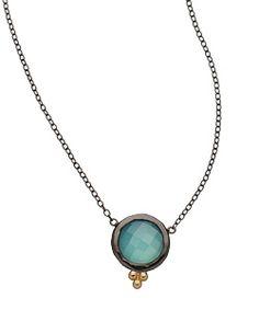 Jordan Scott Aqua Onyx Necklace