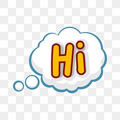 Hi Speech Bubble Stickers Hi Talk Bubble Png And Vector With Transparent Background For Free Download In 2021 Bubble Stickers Text Background Bubbles