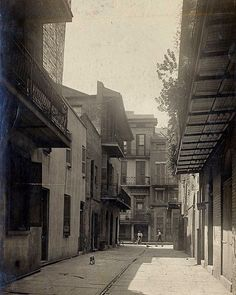 Cabildo Alley Facing St. Peter Street (1910) John Norris Teunisson @lastatemuseum Photography Collection   #neworleans #nola #followyournola #beatouristnola #showmeyournola #louisiana #louisianahistory #frenchquarter #cabildo #jacksonsquare #piratesalley #stlouiscathedral #chartres #vieuxcarre #lastatemuseum #vintage #history #museum #photography #architecture #bestofneworleans #neworleansonthemap by the_lmf