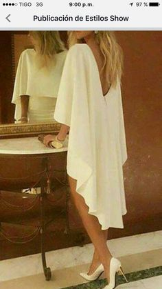 Outfit for night Elegant Dresses, Pretty Dresses, Beautiful Dresses, Elegant White Dress, Look Fashion, Womens Fashion, Mode Outfits, Mode Inspiration, Mode Style