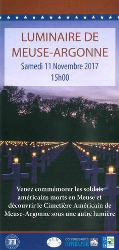 Découvrez ou redécouvrez le cimetière américain Meuse-Argonne le samedi 11 novembre 2017 à partir de 15h lors du luminaire organisé par le personnel de l'ABMC, l'association APEMA,  14-18 Meuse et Connaissance de la Meuse.