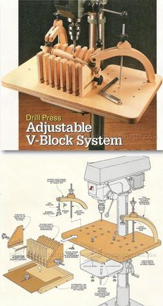 Drill Press Hold Down System - Drill Press Tips, Jigs and Fixtures | WoodArchivist.com