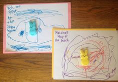 Easter Preschool Activity with Peeps:  Imagine and Draw