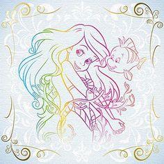 Ariel & Flounder (The Little Mermaid) Disney Princess Ariel, Princesa Disney, Disney Girls, Disney Love, Disney Magic, Disney Art, Princess Aurora, Ariel Mermaid, Ariel The Little Mermaid