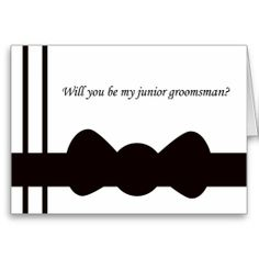 Black Bow tie Junior Groomsmen Cards