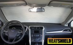 Sunshade for Ford Fusion Fusion Hybrid 2013 2014 2015 2016 2017 Without Rearview Sensor Heatshield Custom-fit Sunshade Rear View Mirror, Rear Window, Ford Fusion Custom, Car Windshield Sun Shade, Window Coverings, Windows, The Originals, Fit, Shape