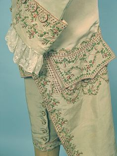 Gentleman's Embroidered Silk Suit, c. 1775