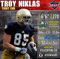 With their 2nd Round pick (52nd overall), the #AZCardinals select TE Troy Niklas  from Notre Dame. For more on #CardsDraft, visit #AZCardinals.com/draft